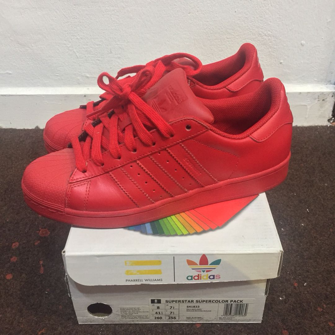 5658302f37aa7 ... free shipping adidas superstar x pharrell williams supercolor pack mens  fashion footwear on carousell 03101 2f37c