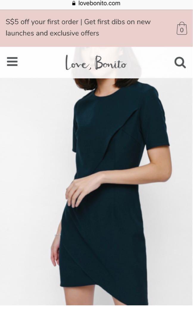 44faead433d Amantha layered foldover dress (Love Bonito)