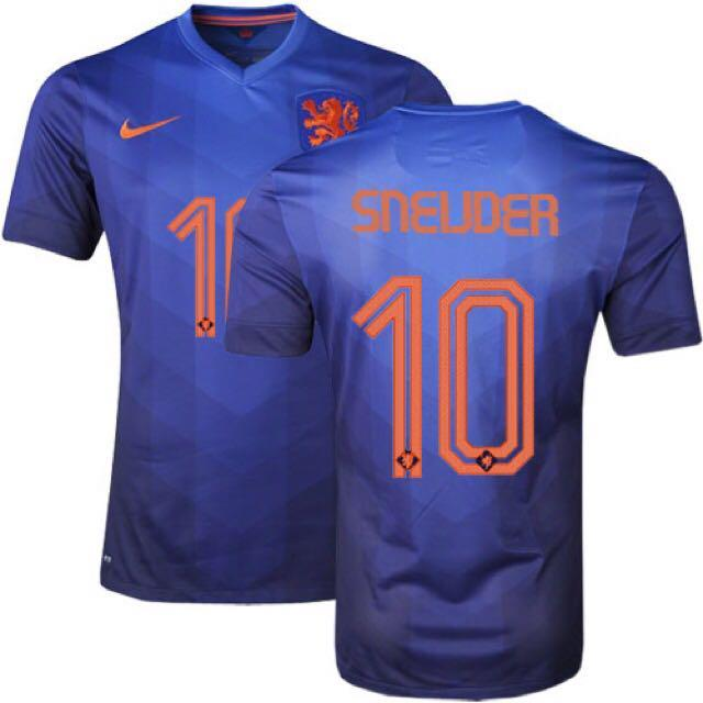 best service 3c536 fa52f Authentic Netherlands 2014 World Cup Away Kit, Sports ...