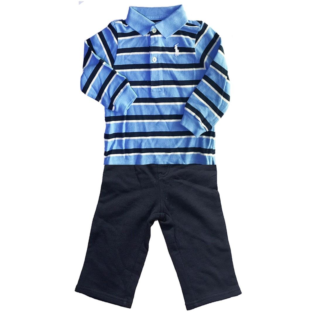 9828dda00 Authentic Ralph Lauren Baby Boy Cotton 2-Piece Long Sleeve Shirt n ...