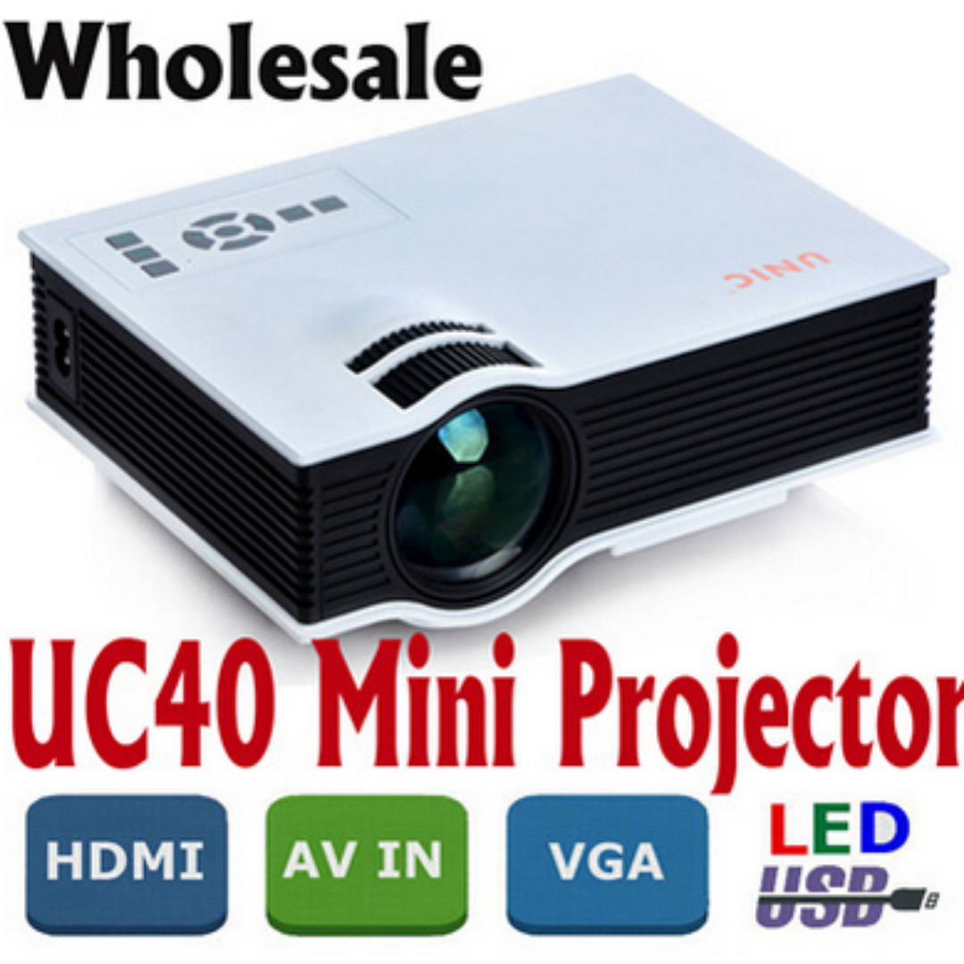 Authentic Unic Uc40 Projector Korean Mini Pico Portable 3d Proyektor Led Home Theater Multimedia Av Vga A V Usb Sd With Hdmi Beamer Wholesale