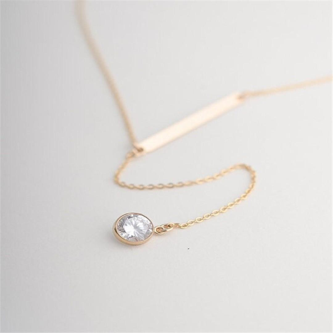 BN Charming Crystal Pendant Choker Chain Necklace [MJN36]