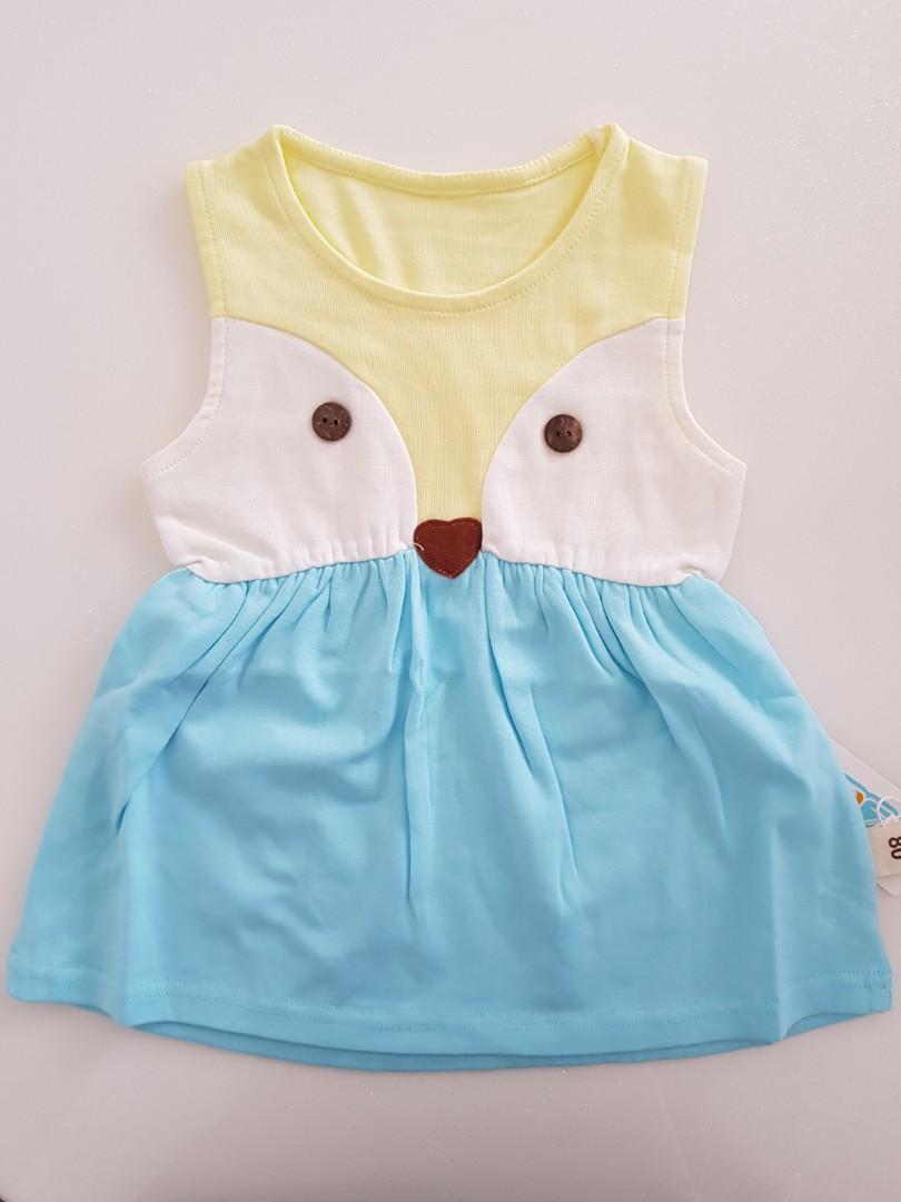 cec4b0e9b412d BNWT baby girl fox dress, Babies & Kids, Babies Apparel on Carousell