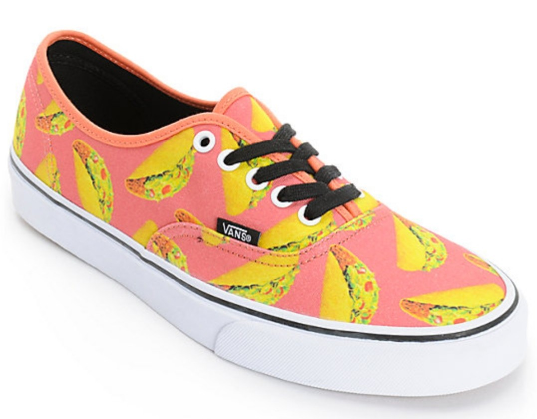 BNWT Vans Special Late Night Authentic Tacos (Coral) Women Size US ... a876a866e