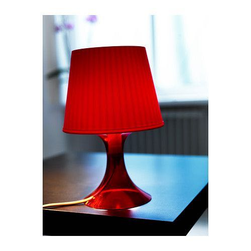 Brand New Ikea Lampan Red Table Lamp, Ikea Red Table Lamps