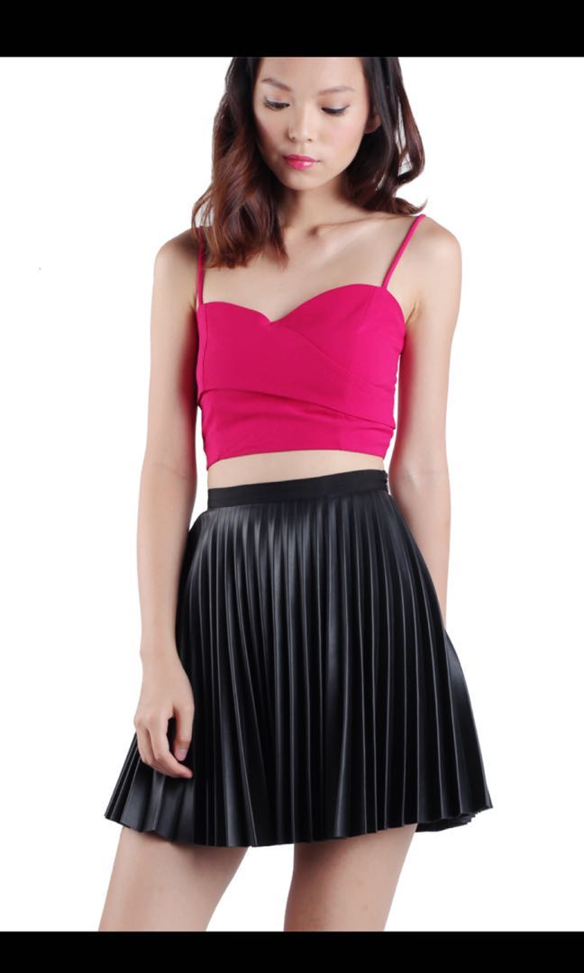 e416f1043cf63e BRAND NEW  The Tinsel Rack Colette Wrap Bralet (Hot Pink)