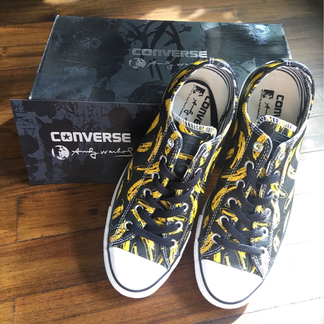 5ecc3ee0dd51 CONVERSE CHUCK TAYLOR ALL STAR ANDY WARHOL BANANA PRINT BLACK WHITE ...