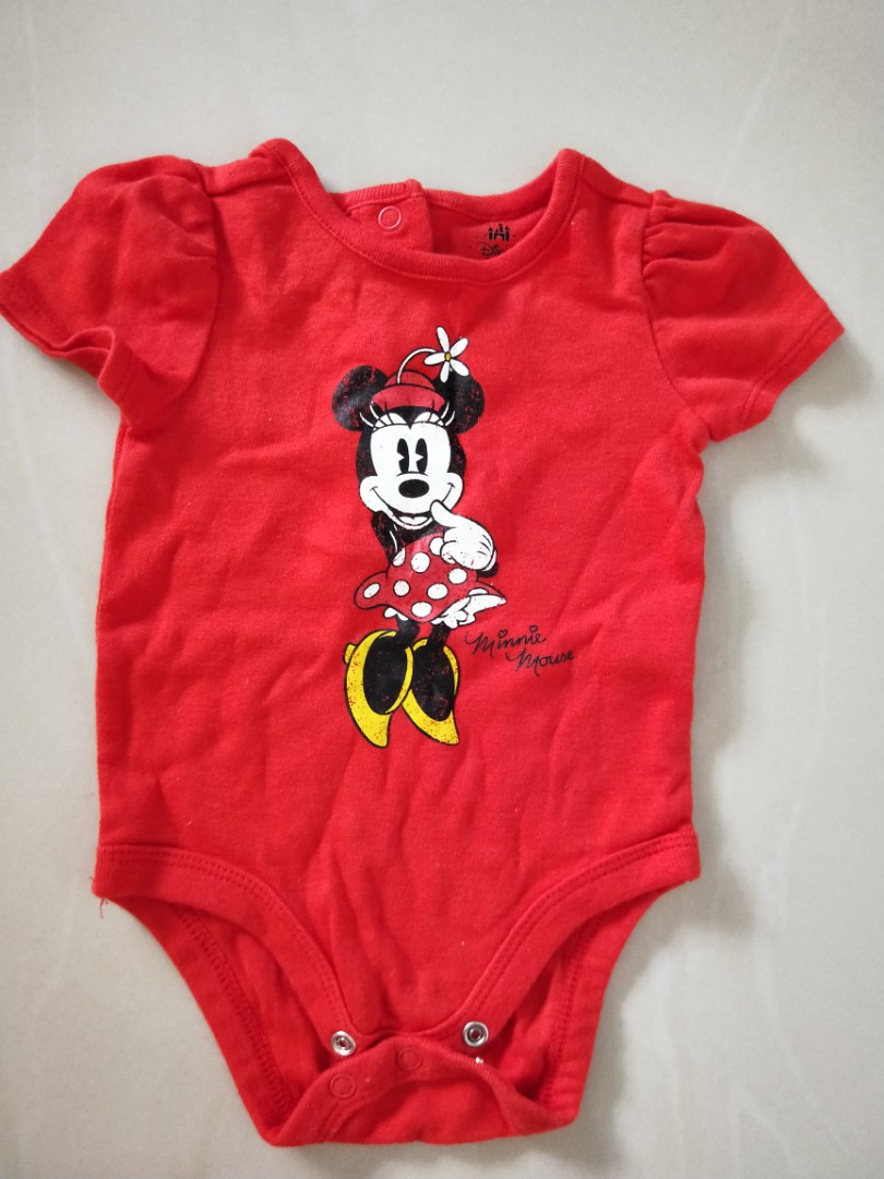 d38e92b7a Disney Minnie Mouse Romper - red, Babies & Kids, Babies Apparel on ...