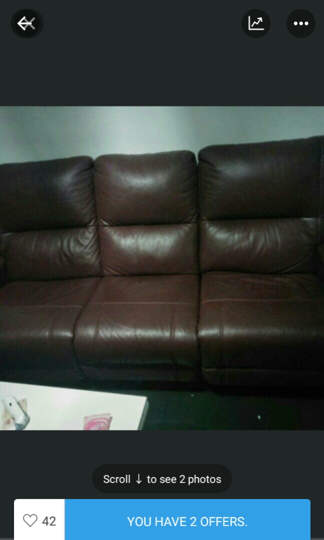 Clearance Electric Recliner Sofa Genuine Leather