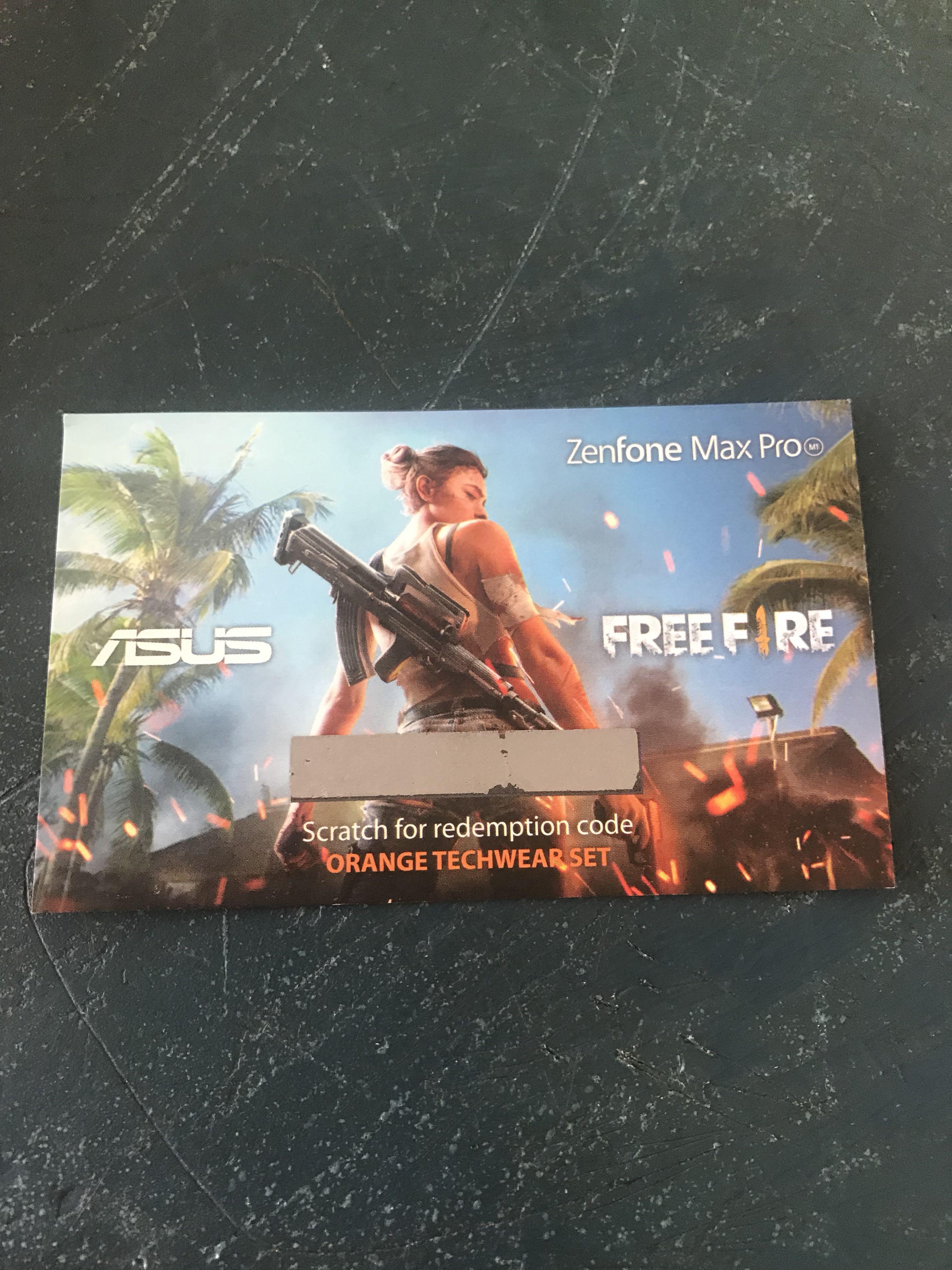 Garena free fire redemption code