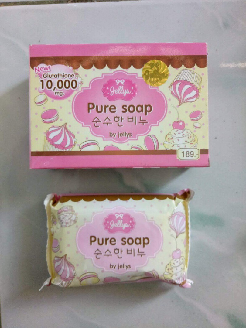 Pure Soap Bpom By Jellys Body Original Whitening Lightening Preloved Health Beauty Skin Bath On Carousell