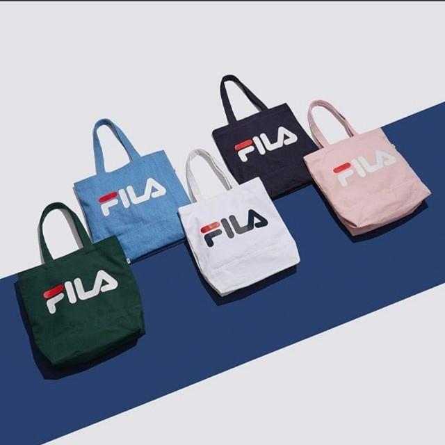 f2f60b289077 Korean Fila authentic pink coloured eco tote handbag
