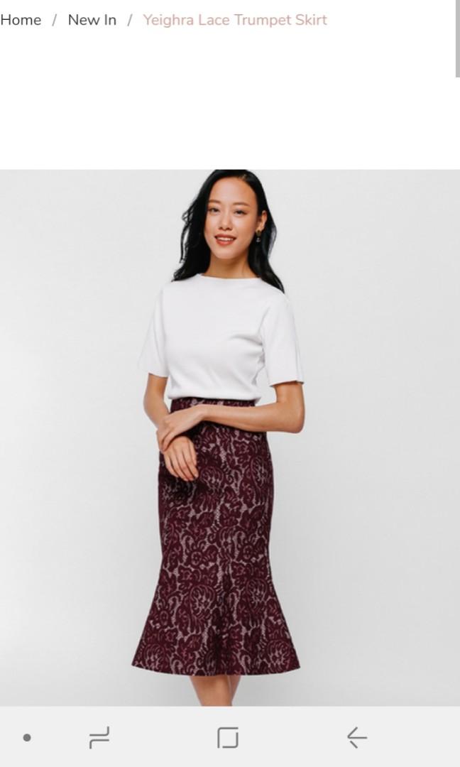 43c64cff2 BNWT Love Bonito lace trumpet skirt, Women's Fashion, Clothes ...