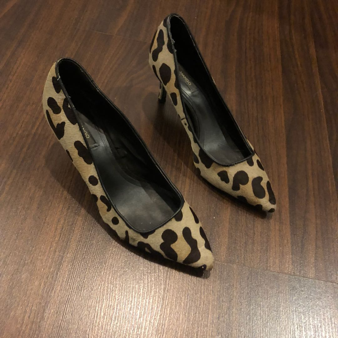 02f50ef9603a Mango Leopard Heels, Women's Fashion, Shoes on Carousell