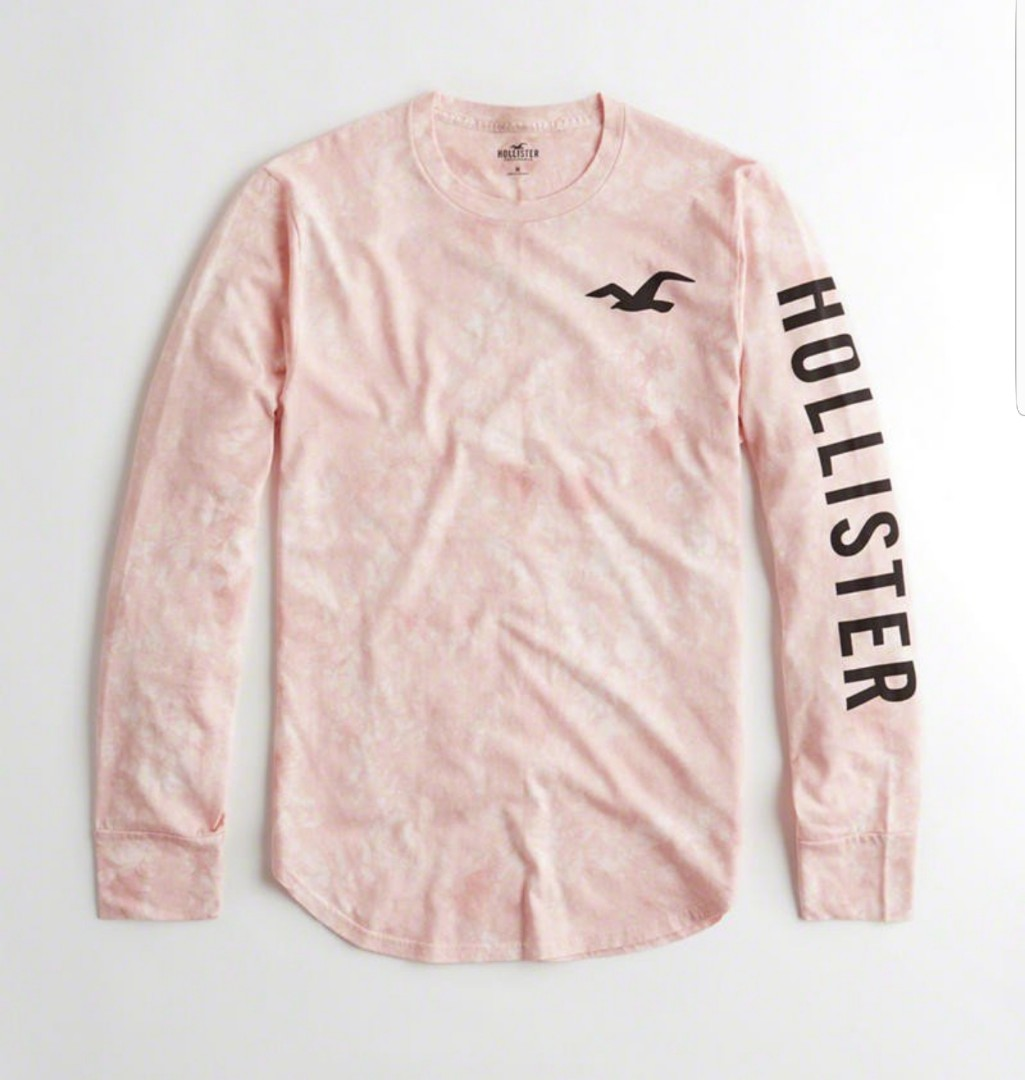 379f372583d NEW  Hollister Long sleeve graphic Tee
