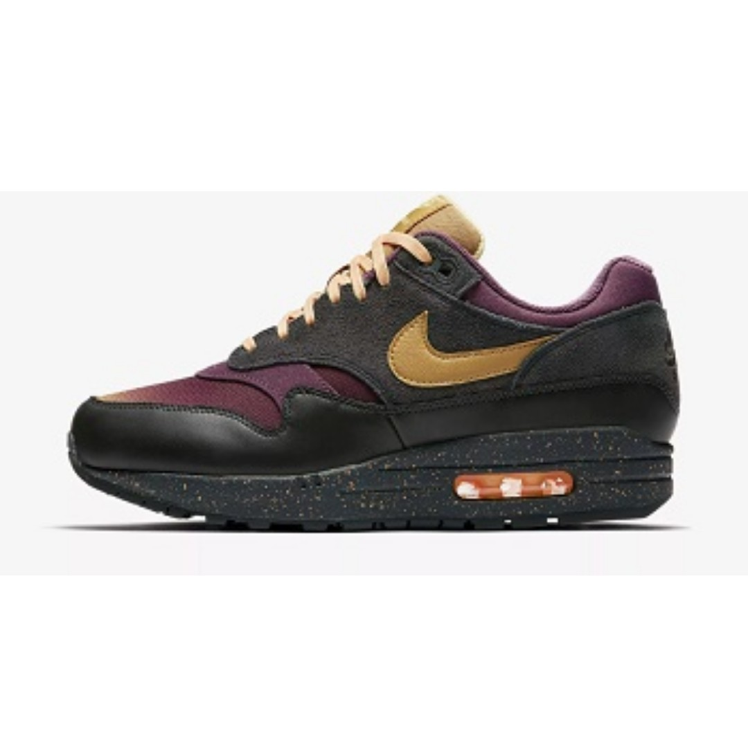 huge selection of 392d8 e619a Nike Air Max 1 Premium(Anthracite Pro Purple), Men s Fashion ...