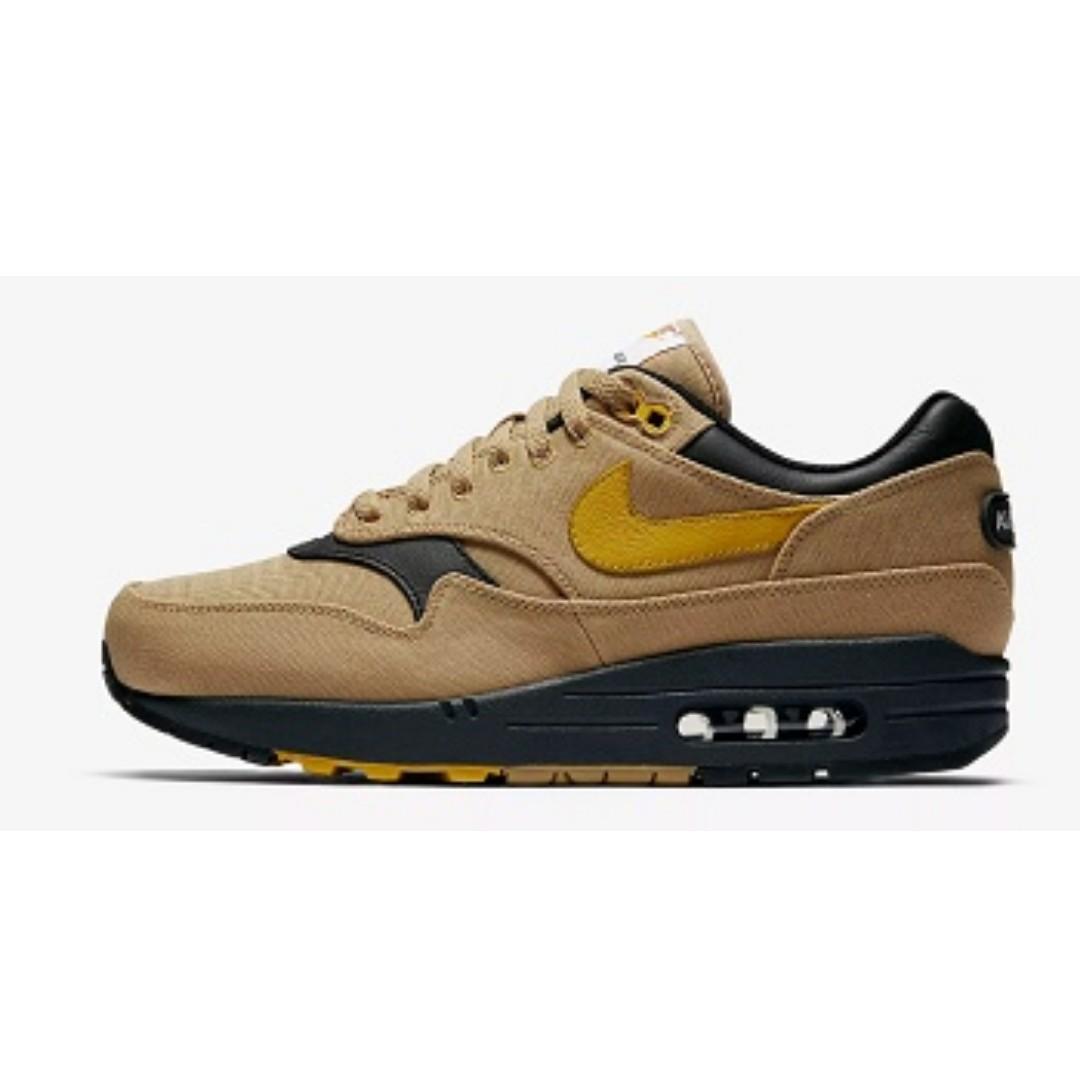 best sneakers d78b8 b607b Nike Air Max 1 Premium(Elemental Gold Black), Men s Fashion ...