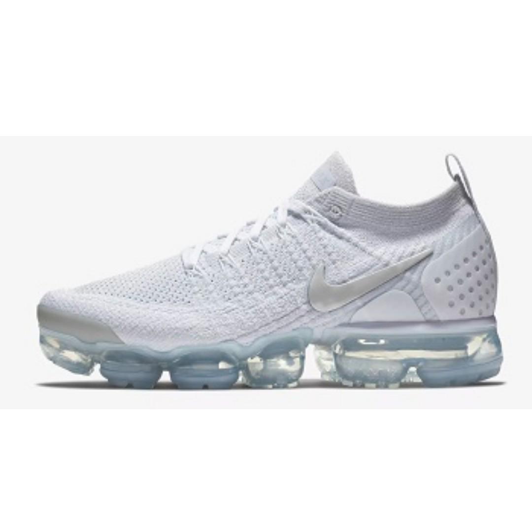 huge discount 90dbb b8170 Nike Air VaporMax Flyknit 2 (White), Men's Fashion, Footwear ...