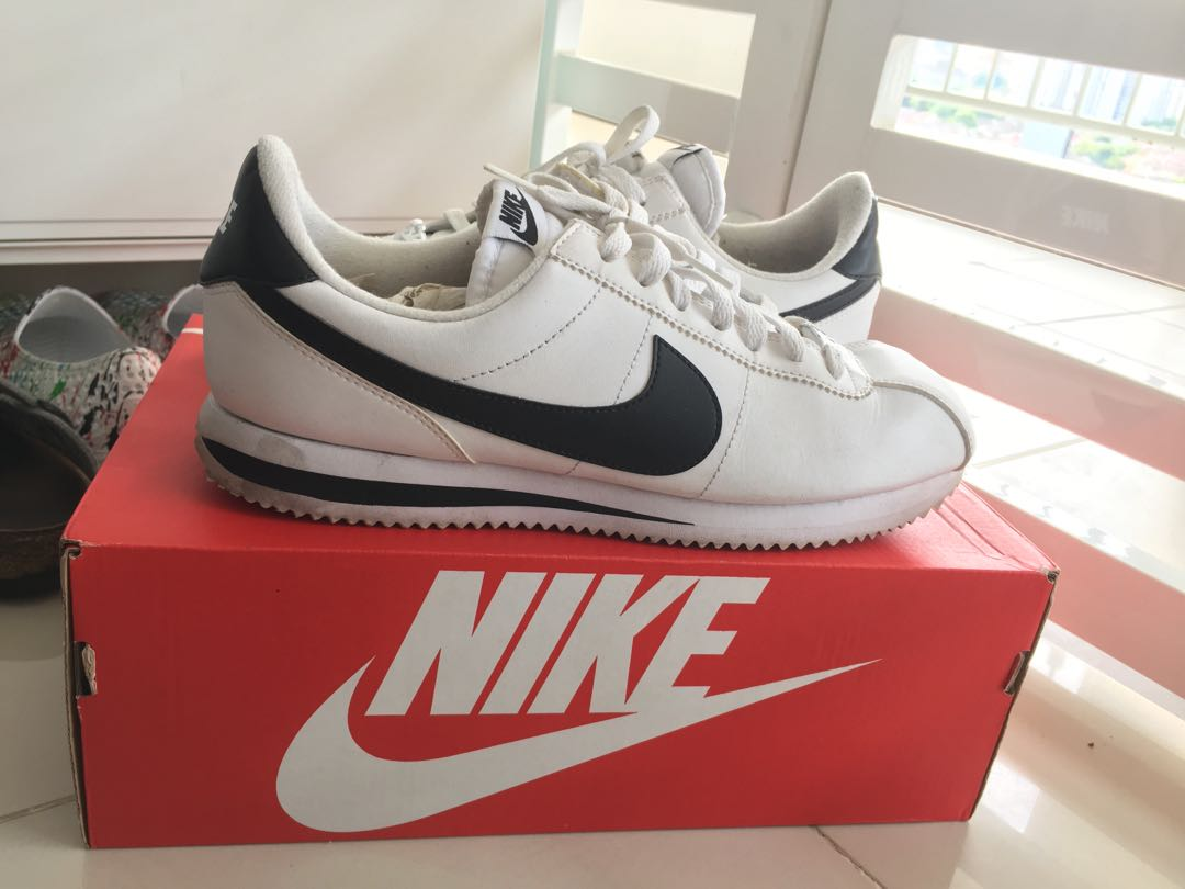 on sale cd06a 0ddf8 Nike Cortez Basic Leather (819719 100), Mens Fashion, Footwear, Sneakers  on Carousell