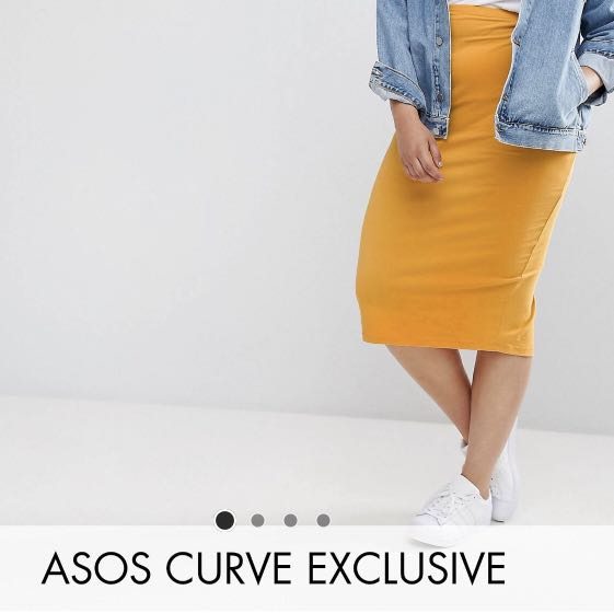7531a50444 Plus size midi pencil skirt in Jersey, Women's Fashion, Clothes ...