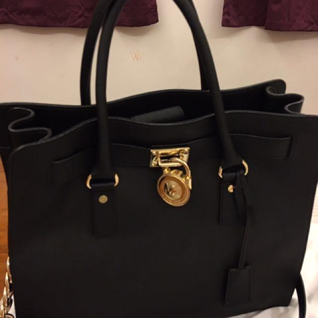 c314f8d7f537e4 Pre-Owned Michael Kors Hamilton Large Tote, Women's Fashion, Bags ...