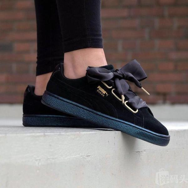official photos a7b5a 2f281 PUMA Suede Heart Valentine (Black), Women's Fashion, Shoes ...