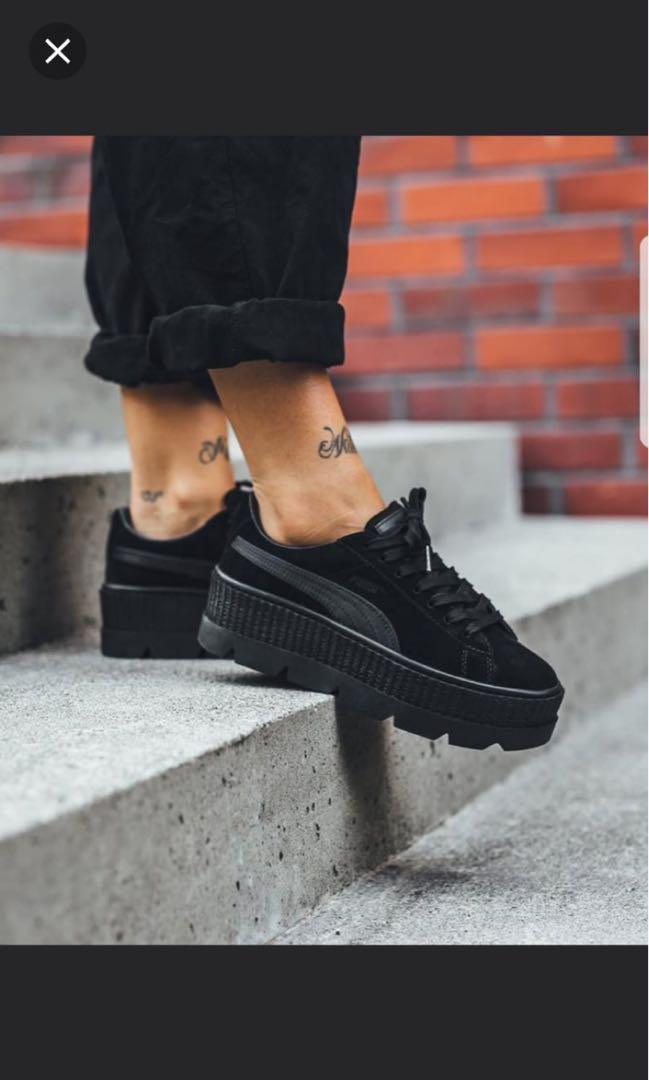 promo code f096f 0a21d Puma x Fenty by Rihanna Cleated Creepers Suede Black ...