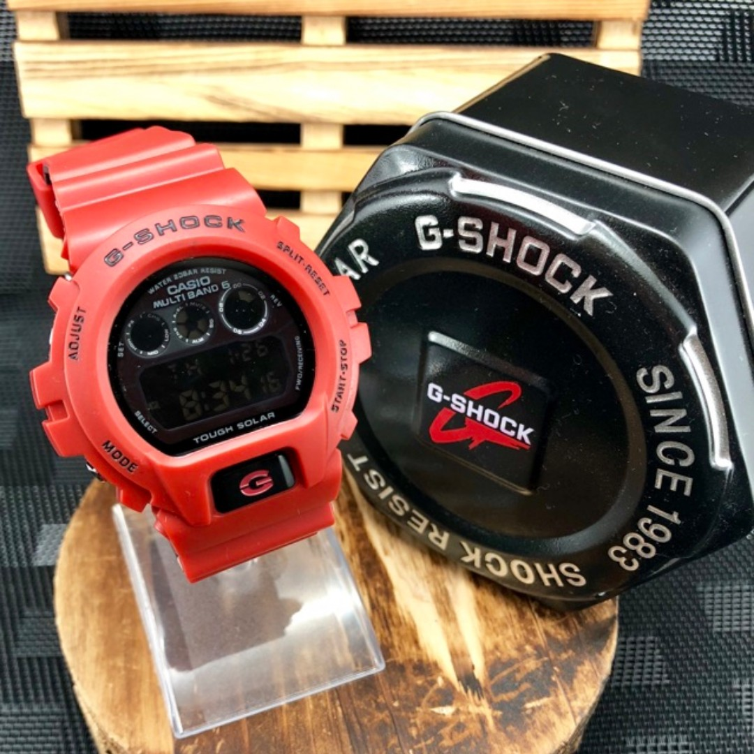 READY STOCK) Casio G shock Dw6900 Red Copy Original Cermin Kaca jam ... 9978394b2e