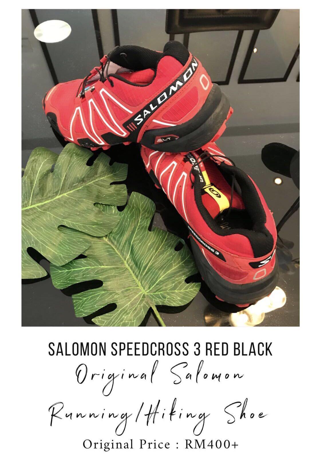 best service 9cd38 f99c3 Salomon Speedcross 3 Black Red, Men s Fashion, Footwear on Carousell