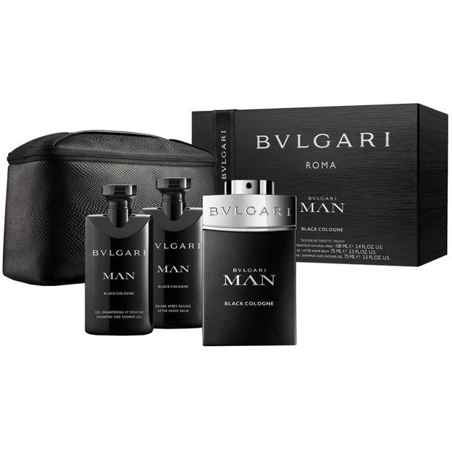 060b7cd9bd BVLGARI MAN BLACK COLOGNE 4 PCS GIFT SET FOR MEN (100ml EDT+ ...