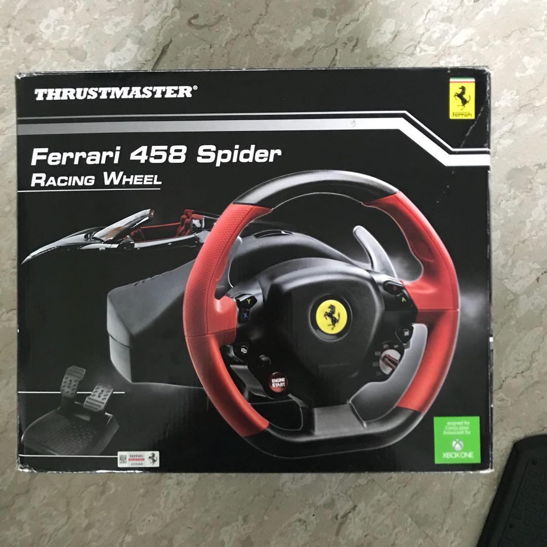 thrustmaster ferrari 458 spider racing wheel, toys & games, video