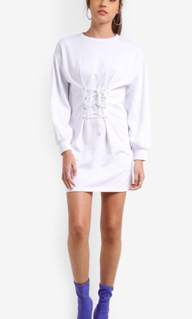 53665d979f9 Tie Front Sweater Dress