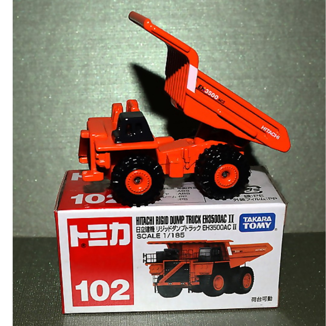 Tomica 102 Hitachi Rigid Dump Truck EH 3500 AC II 1 185 Diecast Truck, Toys & Games, Bricks & Figurines on Carousell