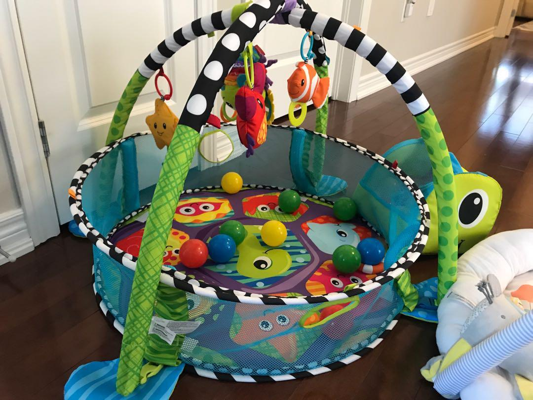 Two play areas for babies