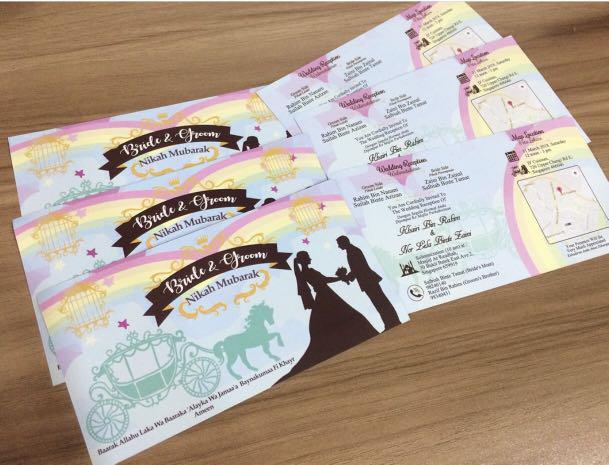Wedding Invitation Card Singapore Jb On Carousell