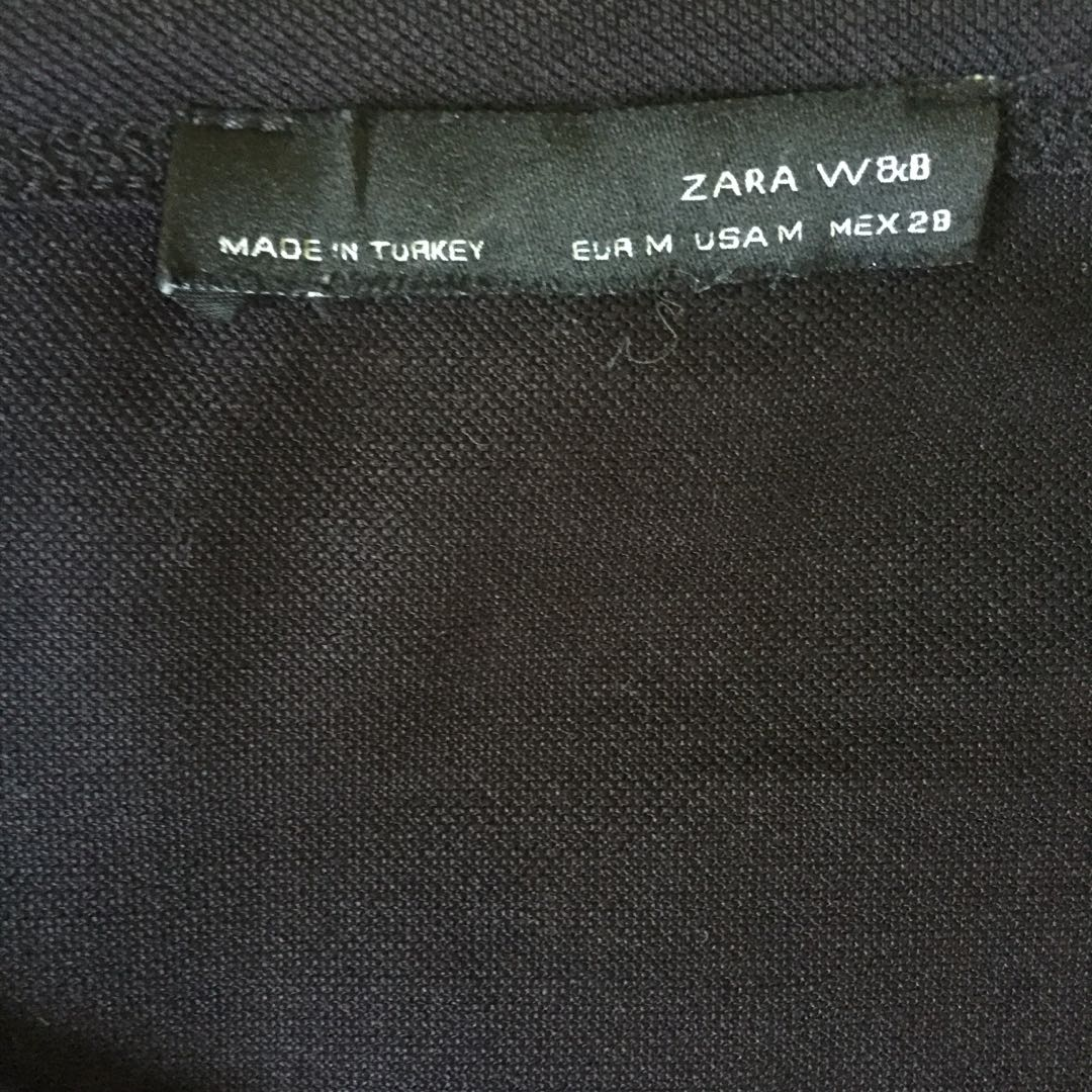 Zara Mesh Asymmetric Top Preloved Fesyen Wanita Pakaian Di Atsthelabel Eeva Black Carousell