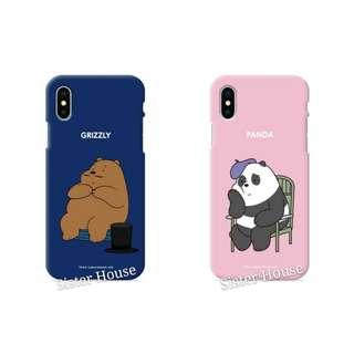(包郵)🇰🇷We Bare Bears Soft Color Phone Case 彩色軟手機殼