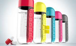 (Pre-order) 2 in 1 Water bottle with daily pills holder