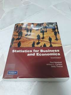 Statistics for Business and Economics (Seventh Edition) Pearson