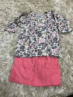 Baju Kurung Baby kain japanese cotton