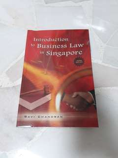 Introduction to Business Law in Singapore - Ravi Chandran (Third Edition)