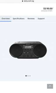 Brand new in box! Sony CD Boombox ZS-PS50