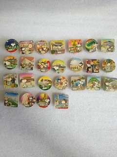2006年 絕版珍藏 Snoopy 遊香港磁石木夾 連香港公共交通特别版 共33個 全套