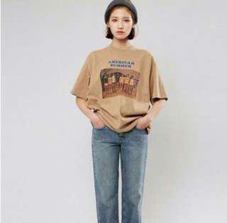 American Summer Oversized Tumblr Vintage Top