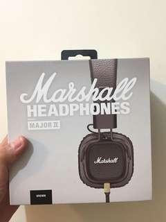Marshall Headphones (Major 2) Brown