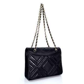 Tory Burch Fleming Geo Leather Bag