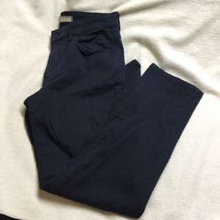 UNI QLO Navy Slim Fit Chinos