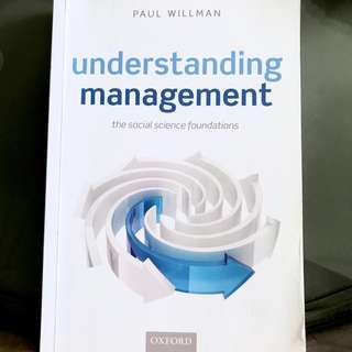 🚚 UOL Core Management Concepts Essential Textbook - Understanding Management by Paul Willman