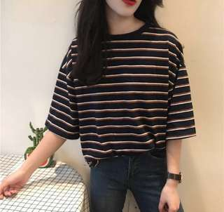 Ulzzang Basic Striped Top