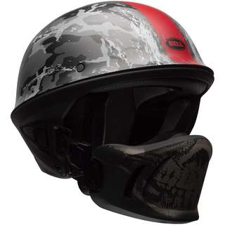 Bell Rogue Ghost Recon SIZE X-LARGE XL ONLY Motorcycle Motorbike Cruiser Harley Davidson Cafe Racer Mean Half Face Helmet with Mask Camo Camouflage Army